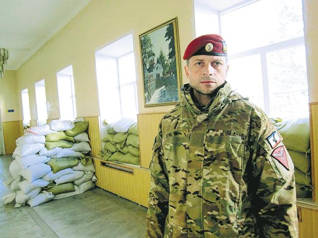 Владимир Крашевский набазе «Беркута», подготовленной кобороне отрадикалов сМайдана