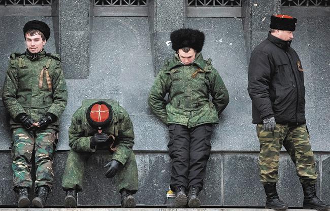Кубанцы на охране здания Верховного Совета Республики Крым