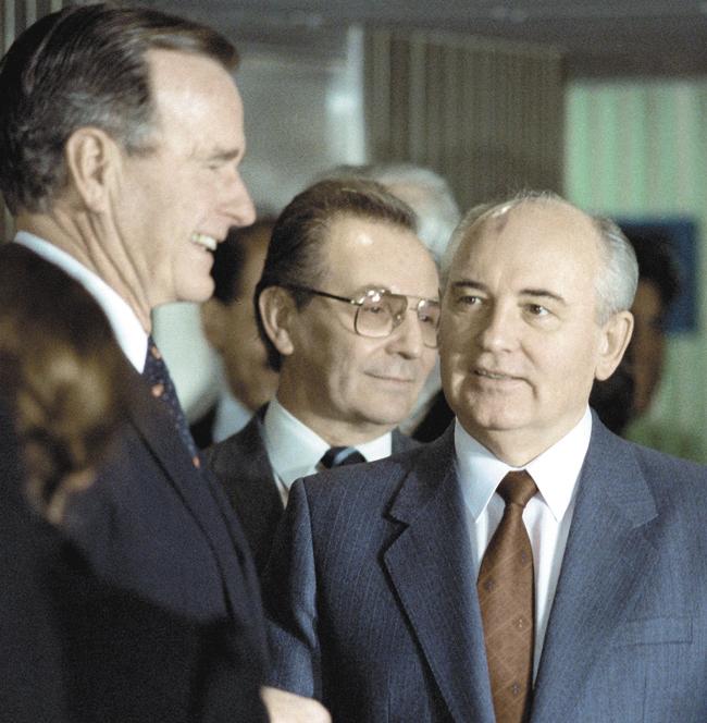 Президент США Дж. Буш-старший и  М. Горбачёв