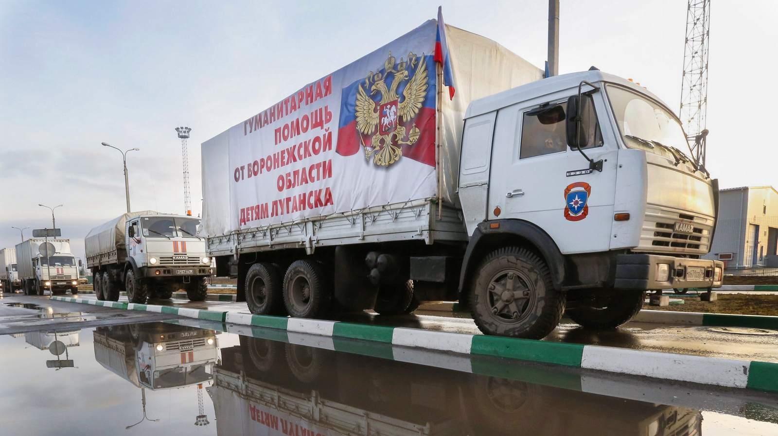 Российские гуманитарные конвои идут на Донбасс один за другим