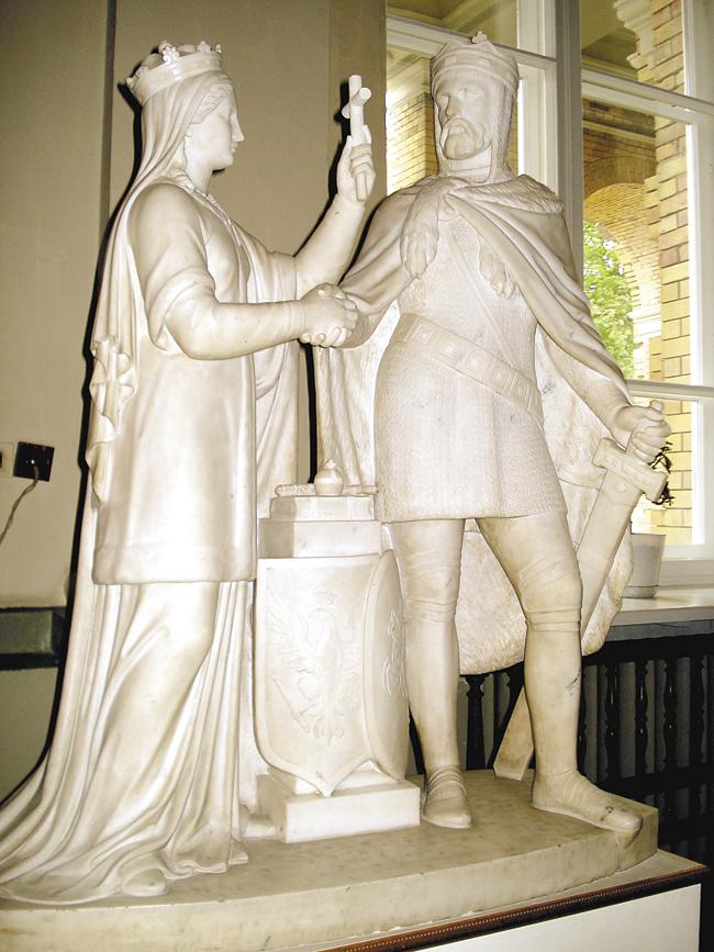 Заключив в1385году Кревскую унию сПольшей иприняв католичество, Великий князь Литовский Ягайло отказался отсамого пути, покоторому шли его именитые предшественники— Великие князья Миндовг, Гедимин иОльгерд