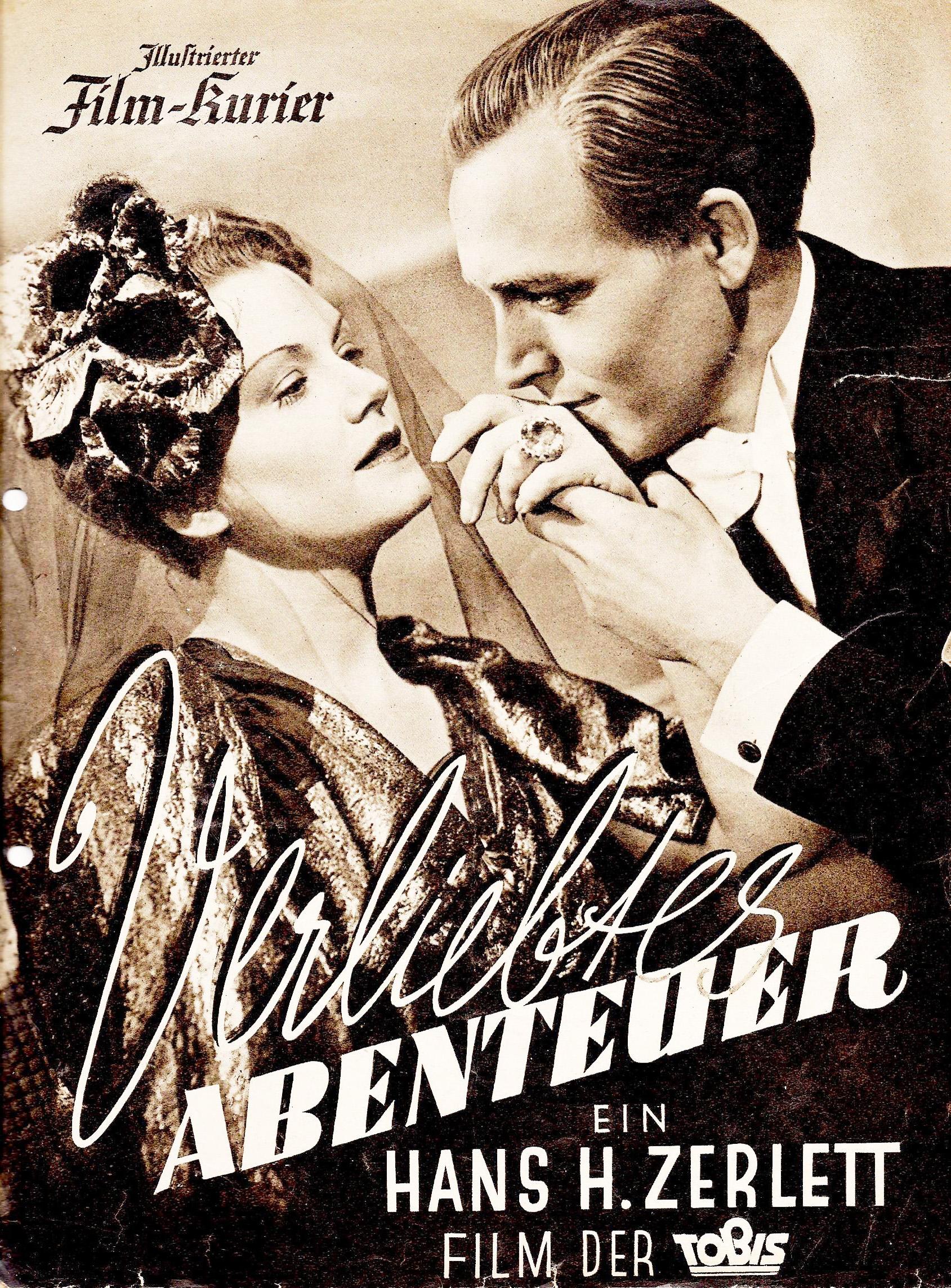 «Приключения влюблённых», 1938год