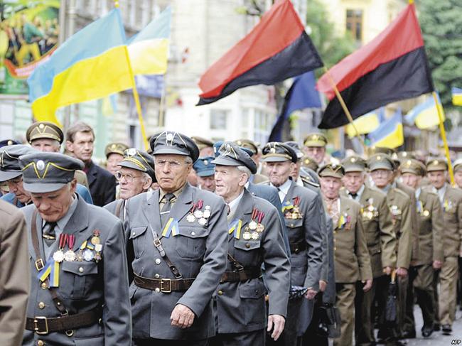 Всовременной Украине ветеранов УПА законодательно уравняли сфронтовиками, сражавшимися против гитлеровского Рейха иего союзников