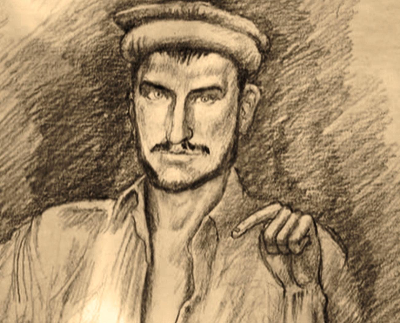 Николай Шевченко («Абдурахмон») вплену. Рисунок дляфильма «Тайна лагеря Бадабер. Афганский капкан»