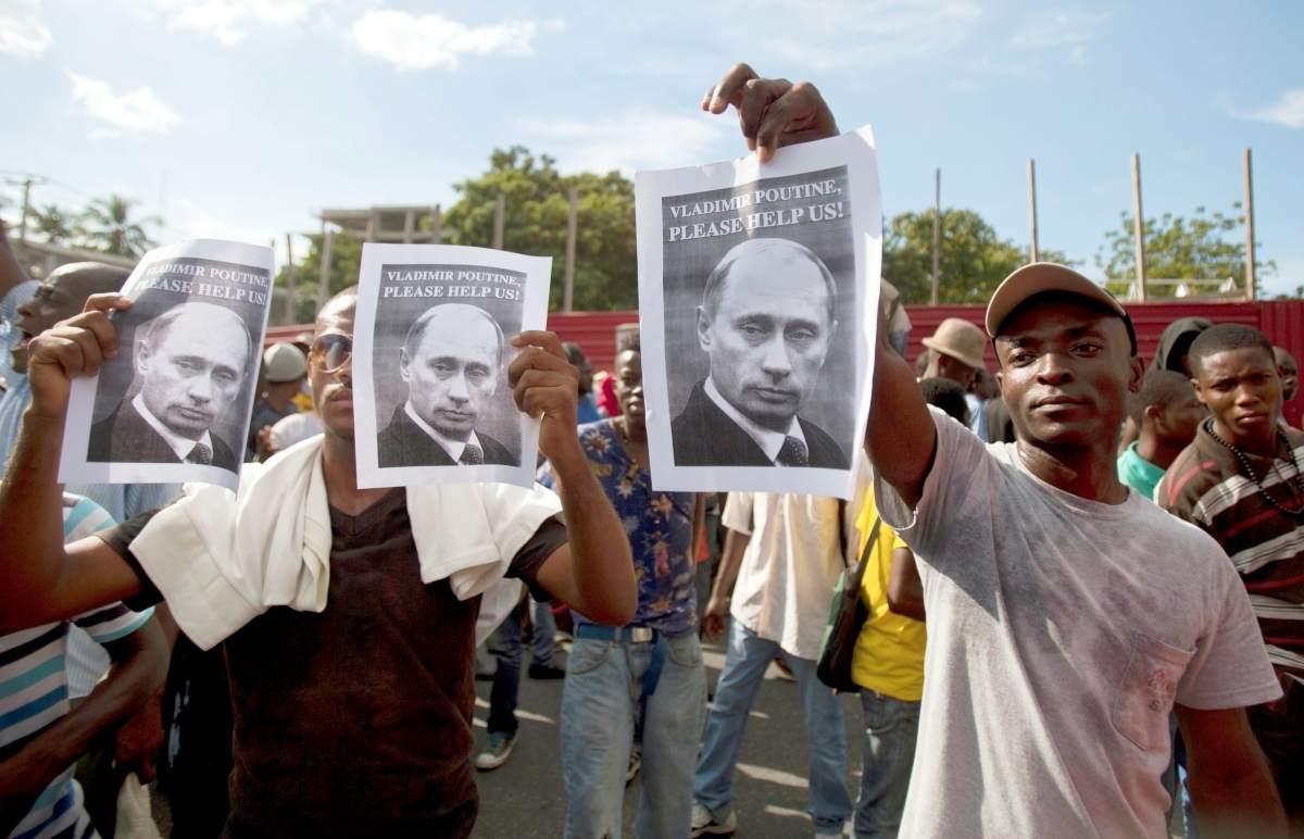 Манифестанты в Гаити: «Владимир Путин, пожалуйста, помоги нам!»