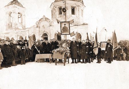 Прощание сИосифом Сталиным. Район Калача Воронежской области. Март 1953года